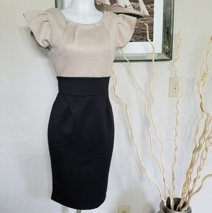AX Paris (black & Ivory) Dress Sz UK 14